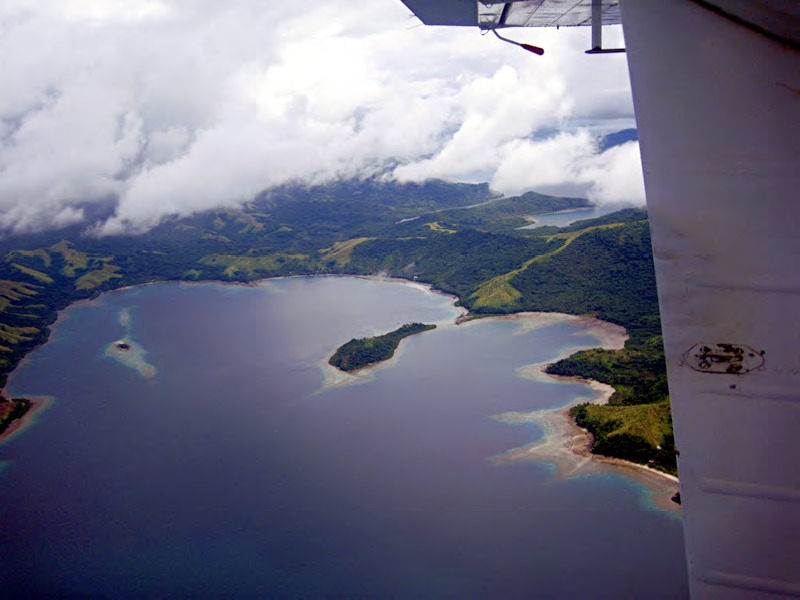 Viani Bay, looking West