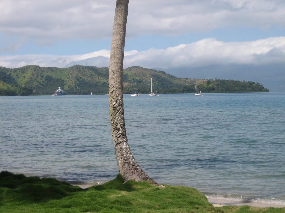Yachts of various types visit this protected bay every year