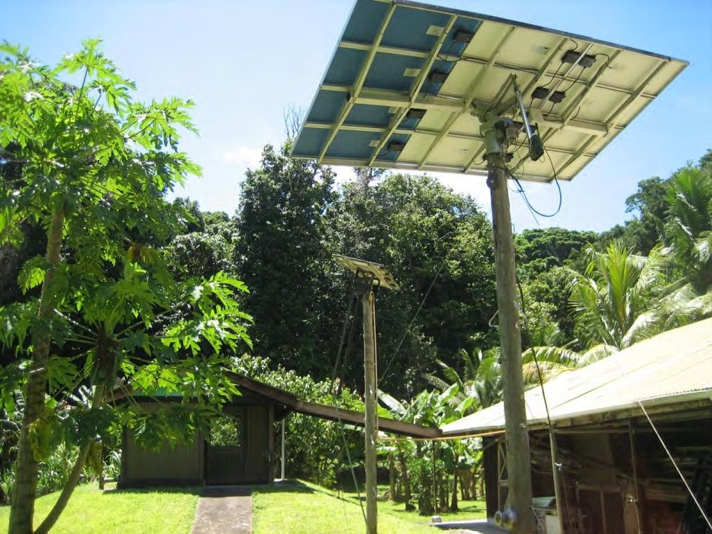 Generator room, solar panels and back of workshop