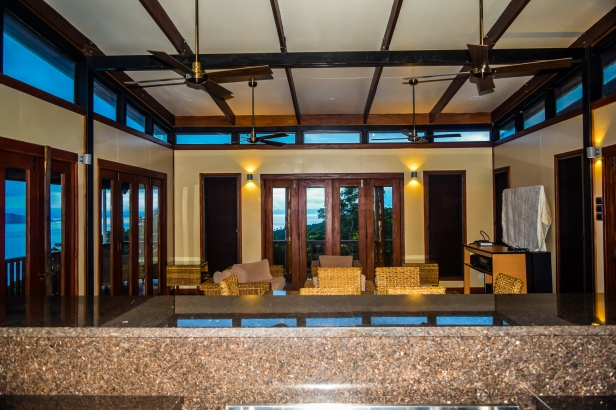 Four Pavilion Home, Soqulu, Taveuni Estates, Fiji - Living area from Kitchen