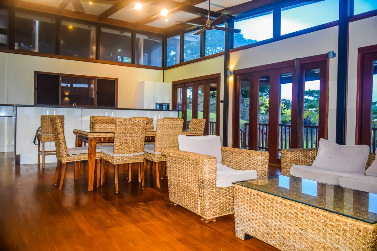Four Pavilion Home, Soqulu, Taveuni Estates, Fiji - Main Living Room 3