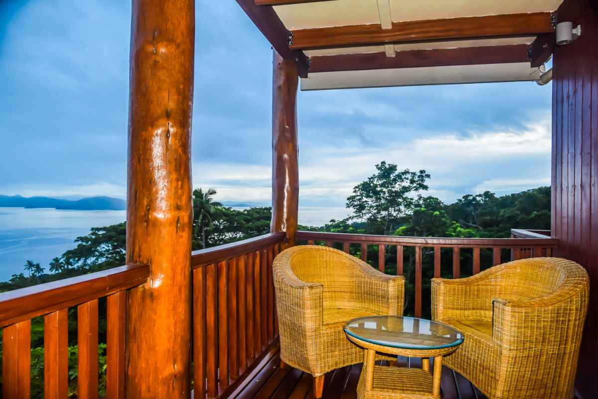 Four Pavilion Home, Soqulu, Taveuni Estates, Fiji - Deck View 7