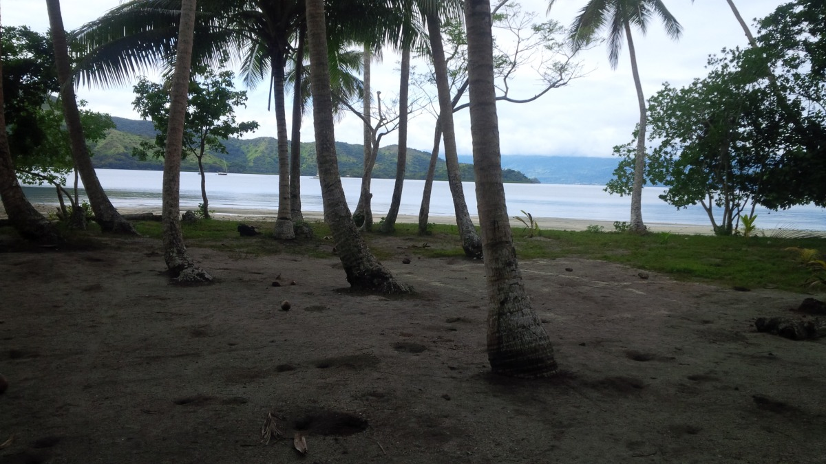 Beachfront view looking out to Viani Bay