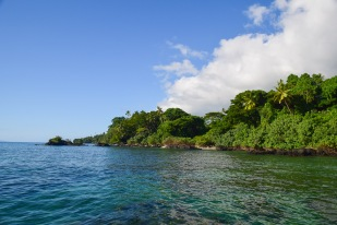 Tropical coastline, Soqulu, Taveuni Estates, Fiji