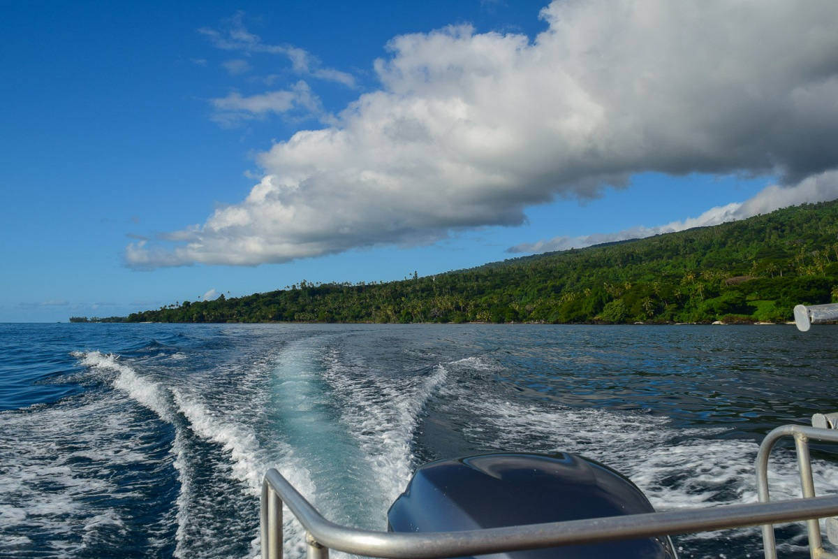 Cruising the coast of Soqulu, Taveuni Estates, Fiji