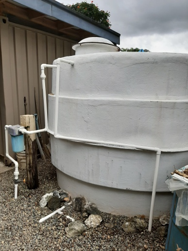watertank by garage